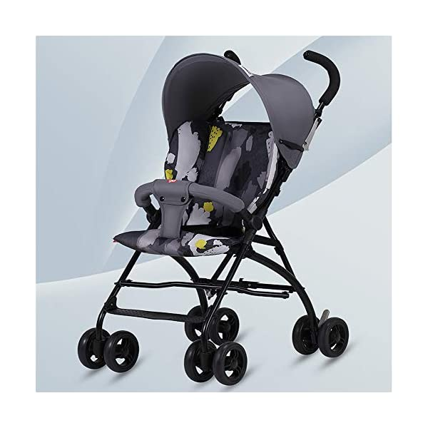 Makeups One-Handed Folding Stroller Height-Adjustable Stroller 0+ Group Is Suitable for Crib Up To 15 Kg with Umbrella Colour: Black Makeups The 3-in-1 car is suitable for the birth of a baby. 3-piece car-a car seat from a month to 15 kg, a large crib and a stroller that can be used for a long time. Easy to fold: A case that can be easily and quickly folded with only one hand. The size is reduced, which is ideal for travel and trunk space. With a compact chassis, easy to fold, can carry a crib, can be used from birth, and includes group 0. This is the ideal stroller for your baby. 1