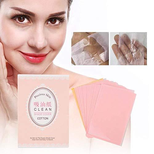 Papier absorbant l'huile, aide à enlever le maquillage, équilibre de la graisse, papier de contrôle de la pâte de bois brute