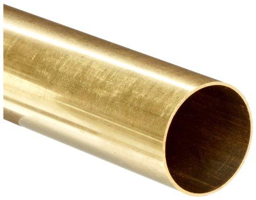 Brass C260 Seamless Round Tubing, 1/2