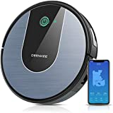 DeenKee Robot Vacuum and Mop, Wi-Fi with Alexa, Strong Suction, Super-Thin, Quiet, Automatic Self-Charging Robotic Vacuum Cleaner with Mapping for Pet Hair, Hard Floor, Carpet