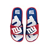 FOCO NFL New York Giants Mens Sport Shower Gel Slide Flip Flop...