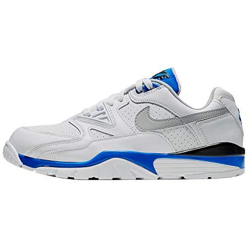 Nike Herren Air Cross Trainer 3 Low Sneaker, Blanco/Lt Smoke Grey-Racer Blue-Negro, 42.5 EU
