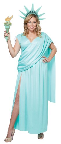 California Costumes Women's Lady Liberty Plus, Mint Green, 2X