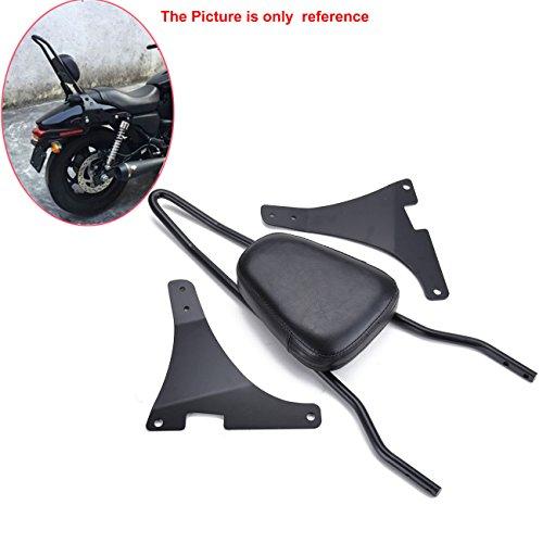 Samger Sissy Bar Hinten Abnehmbare Rückenlehne für Harley Sportster XLH883 XL883R XL883C XLH1200 Schwarz