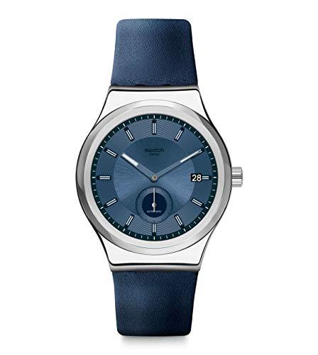 Swatch Reloj Analógico para Unisex Adulto de Cuarzo con Correa en Piel SY23S403