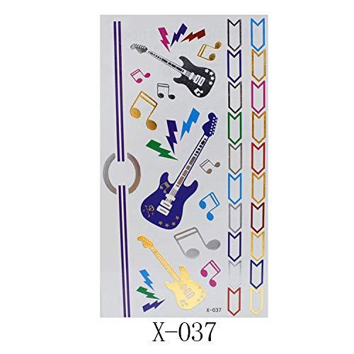 10 pièces de métal autocollants de tatouage rétro style européen et américain bracelet autocollants 150 * 85mm X-037