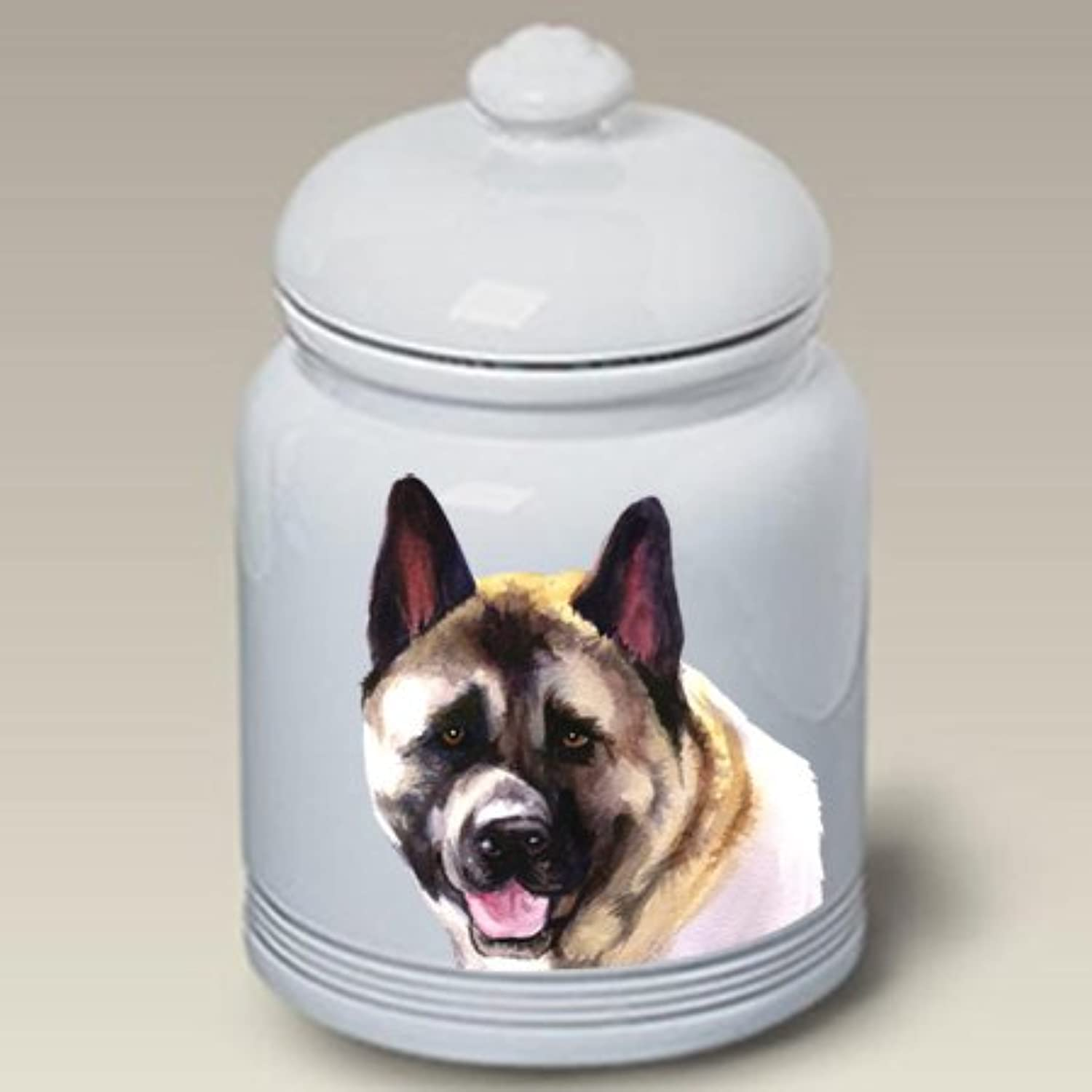 Best of Breed Akita  Barbara Van Vliet Ceramic Treat Jars