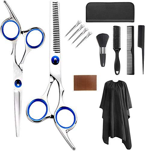 13 tijeras profesionales de peluquería, tijeras de adelgazamiento de peluquería, tijeras de adelgazamiento de acero inoxidable, tijeras de adelgazamiento de corte de cabello