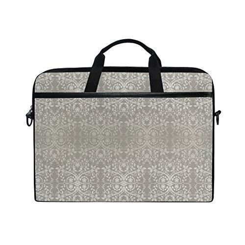 VICAFUCI New 15-15.4 Zoll Laptop Tasche,Umhängetasche,Handtasche,Viktorianische Spitze-Blumen und Blätter Retro- Hintergrund-altmodischer Grafik-Druck