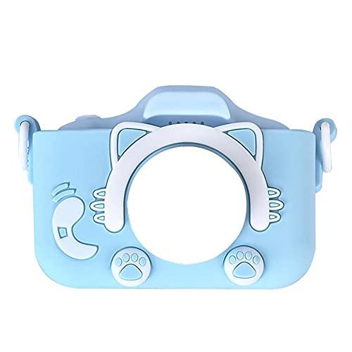LUBINGT Cámara Digital para Niños Cámara Digital para niños HD 1080p Video Dual Cámara de Doble Cámara IPS Mini cámara Juguetes educativos para niños (Color : Silicone Case)