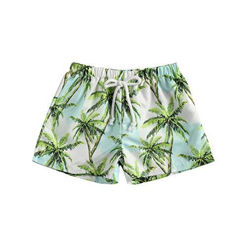 LUCSUN Bañador para bebé y niños, de secado rápido, pantalones cortos de playa de palmera, pantalones cortos de natación para niño y niño