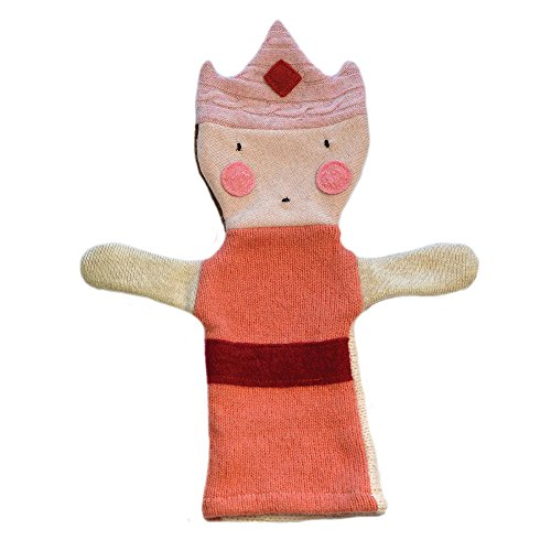 Cate and Levi 12' Handmade Princess Hand Puppet (Premium Reclaimed Wool), Colors Will Vary