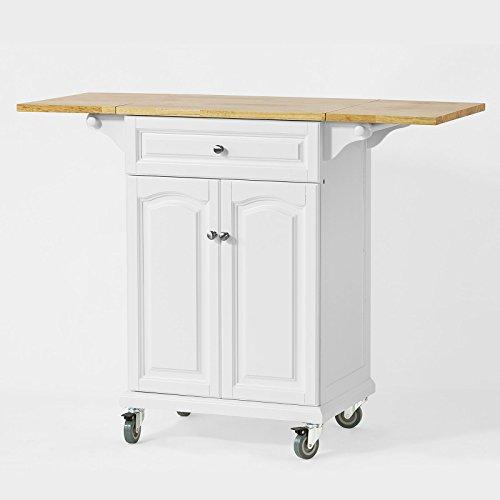 SoBuy® FKW36-WN Desserte Table roulante Meuble de Rangement pour Cuisine Plan de Travail Extensible