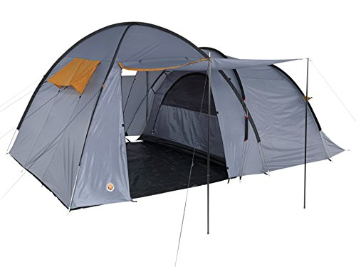 GRAND CANYON Fraser 3 – tienda para camping (tienda para 3 personas), gris/naranja, 302019