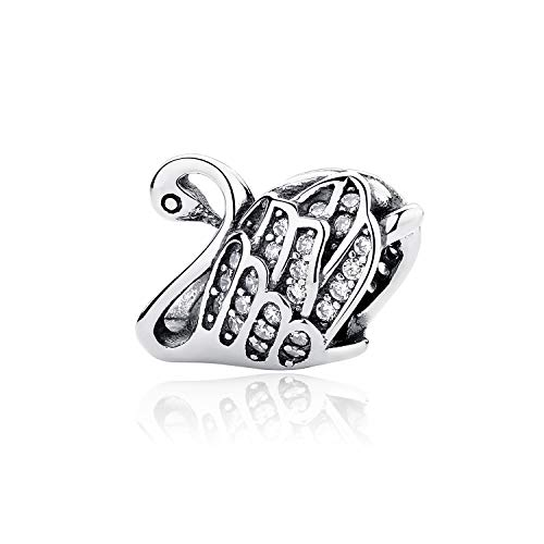 Bracciali braccialetto Gioielli,Original 925 Sterling Silver Beads Charm Love Animal Pet Paw Queen Bee Crystal Charms Fit Bracelets Women Diy Jewelry Majestic Swan