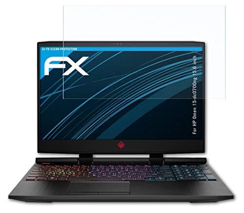 atFolix Schutzfolie kompatibel mit HP Omen 15-dc0700ng 15.6 inch Folie, ultraklare FX Bildschirmschutzfolie (2X)