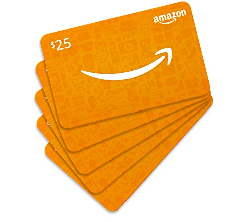 Amazon.com $25 Gift Card - Pack of 5 (Holiday Plaid Card Design)