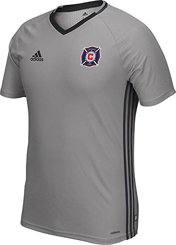 MLS Chicago Fire Men's Short Sleeve Training Top, Clear Onyx, Small