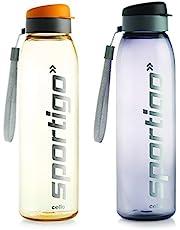 Cello Sportigo Plastic Bottle Set, 1 Litre, Set of 2, Assorted