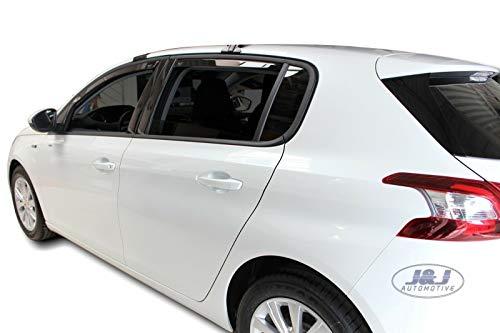J&J AUTOMOTIVE Windabweiser Regenabweiser für Peugeot 308 5-türer ab 2013 4tlg HEKO dunkel