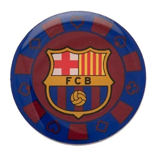 Barcelona Football Club Team Poker Chip Crest Metal Enamel Pin Badge Official