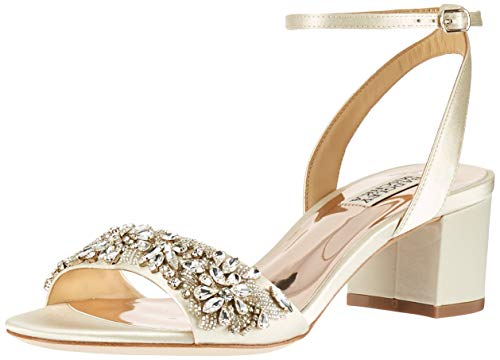 Badgley Mischka Women's Ivanna Heeled Sandal, Ivory, 11 M US
