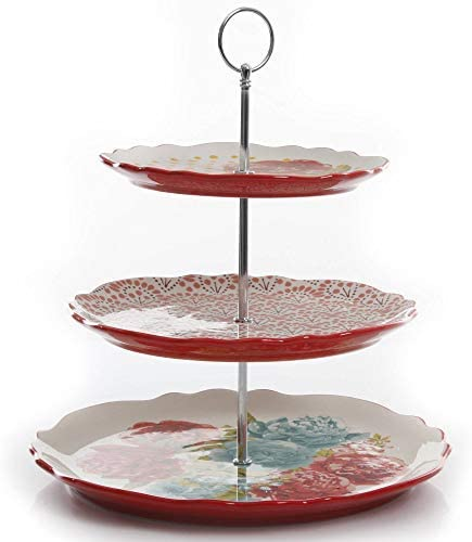 The discount Pioneer Woman Blossom High quality new Jubilee Tray Serving 3-Tier 1