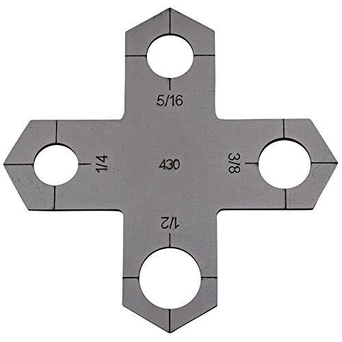 Holey Cross Plasma Stencil - .430' - Bolt Hole Circle Plasma Cutter Guide Template