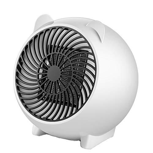 morningsilkwig Mini Calentador Ventilador de Aire Caliente de 500W Calentador silencioso calefacción del hogar Ventilador de Aire Caliente Calentadores de la Sala de la Oficina