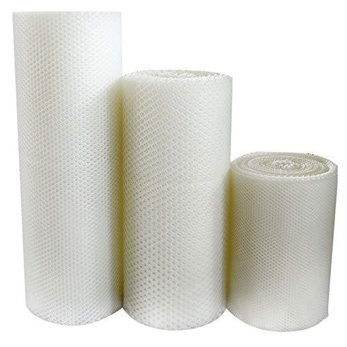 Red de protección para césped, red de jardín, anti caída, red de plástico blanco, malla de 1,8 cm, red de seguridad para niños (tamaño 0,8 x 10 m)
