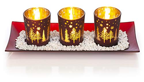 Christmas Candlescape Set