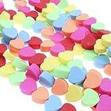 BOSAIYA Zz0 100 unids Amor Forma corazón polímero Arcilla Espaciador Suelta Perlas para Bricolaje Pulsera Collar Accesorios 10mm Tl0428