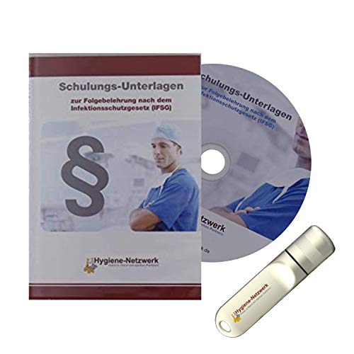 Infektionsschutzgesetz Schulung   IFSG-Schulungsunterlagen   zur Folgebelehrung   Hygieneschulung   Personalschulung   Power-Point-Präsentation auf CD oder USB-Stick