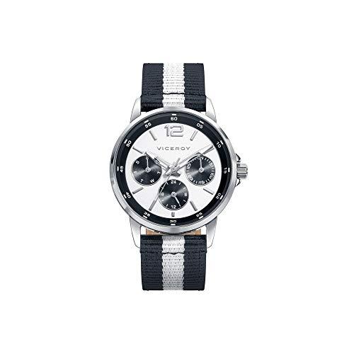 Viceroy jongens multi-wijzerplaat kwarts smartwatch polshorloge met nylon armband 401095-05