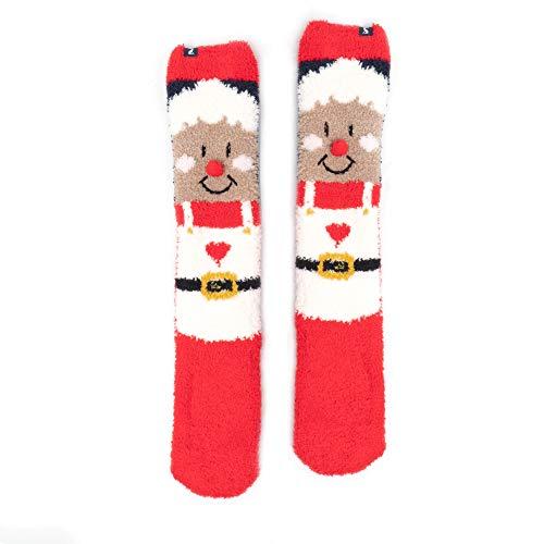 Joules Womens Christmas Fluffy Super Soft Festive 3D Socks