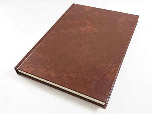 中村印刷所 ナカプリバイン プレミアム 水平開きハードカバーノート A5 200頁 横罫7.5mm(ブラウン)