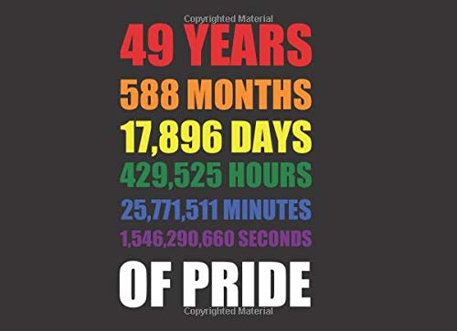 49 Years Of Pride Guest Book: Rainbow Lgbt Gay Pride Since 1970. Make Every Second Count. (Merchandise, Party, Decoration)