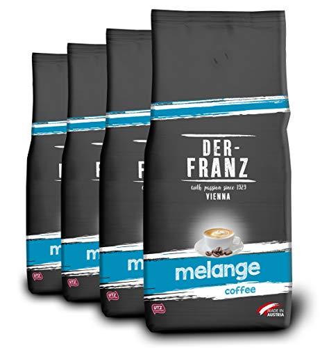 Der-Franz Melange-Kaffee UTZ, gemahlen, 4x1000g