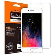【Spigen】iPhone8 Plus / iPhone7 Plus 対応 ガラスフィルム【日本製旭硝子採用】 強化ガラス 液晶保護フィルム 高透過率 3DTouch対応 043GL20608 (GLAS.tR SLIM (1枚入))
