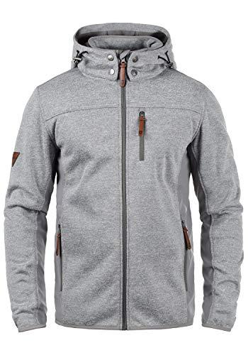 Indicode Grosvenor - Chaqueta de entretiempo con capucha para hombre (tejido Softshell) Grey Mix (914). XXXL