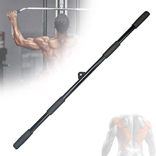 Equipo de polea con cable, Ajuste del cable de la barra de la barra de lata recta de 100 cm, el accesorio de cable de tire hacia abajo de Multi Grip Lat, para el entrenamiento en casa y gimnasio, negr