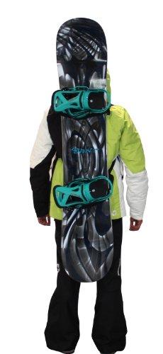 Wantalis Tragevorrichtung für Skier Surfback - Funda para Tabla de Snowboarding, Color Negro, Talla M/L