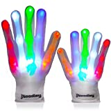 The Noodley Thin LED Light Up Gloves for Kids Cool Toys for Boys Gift Ideas - Child, Teen and Adult Size (Small)