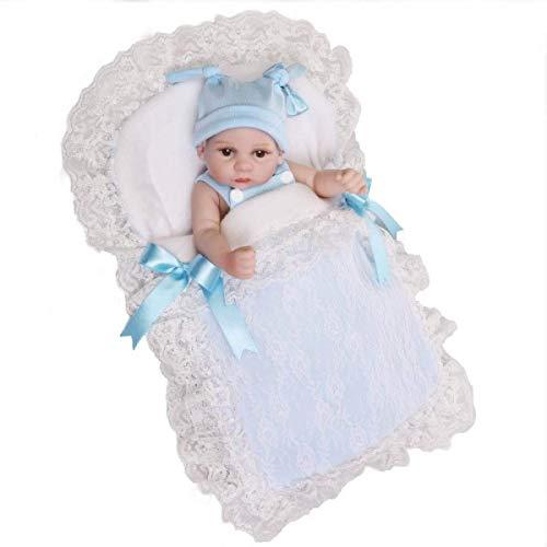 Reborn Baby Dolls Twins Reborn Baby Dolls Hecho A Mano Realista Realista Silicona Vinilo Baby Doll Simulación Suave 10 Pulgadas 26 Cm Puede Estar En El Agua, Niño