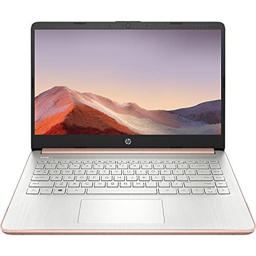 2021 Plus récent ordinateur portable HP Premium HD 14 pouces, processeur Intel Dual-Core jusqu'à 2.8 GHz, 8 Go de RAM, 64 Go de stockage eMMC, webcam, Bluetooth, HDMI, Wi-Fi, Rose Gold, Windows 10 avec 1 an Microsoft 365