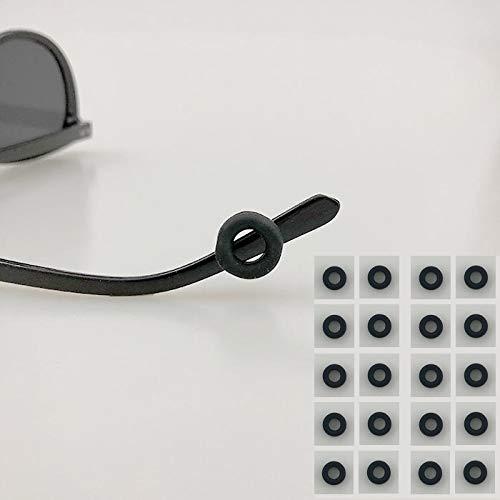 10 PAIRS Keepons Circle Black Prevent Eyeglass Slipping Anti Slip Anti Slide Eyewear Sunglasses Spectacles Glasses Temple Tips Sports Ear Hooks Sleeves Round Retainer