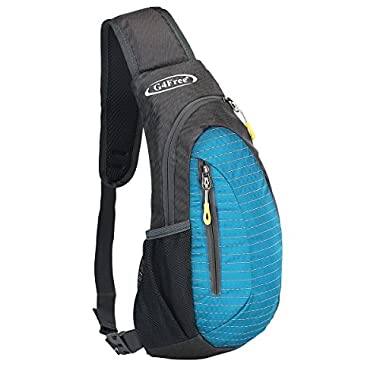 G4Free sling bag, Casual Cross Body Bag Outdoor Shoulder Backpack Chest Pack with One Adjustable Strap for Men Cycling Hiking(Light Blue)