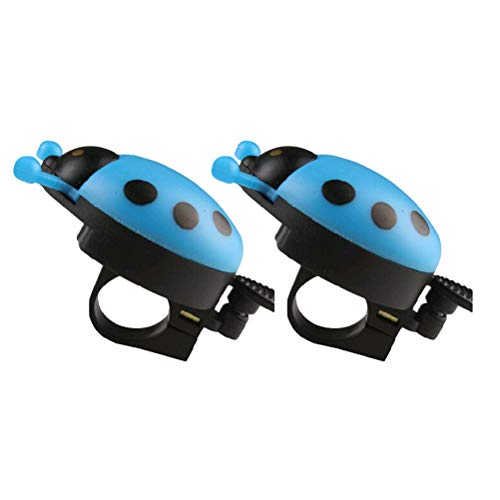 VOSAREA 2 Pcs Design Bells Cute Ladybird for Children Bicycle Ring Bell Accessories Bicycle Ring (Blue)