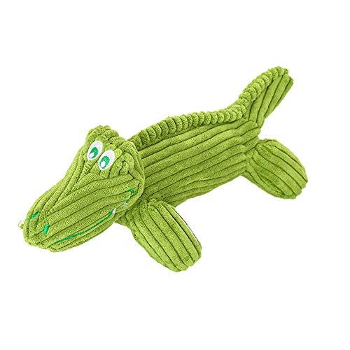 Lai-LYQ pluche krokodil leeuwenvorm geluid piepende huisdier hond kauwen tanden schoonmaken speeltje - krokodil, Crocodile*, Krokodil*