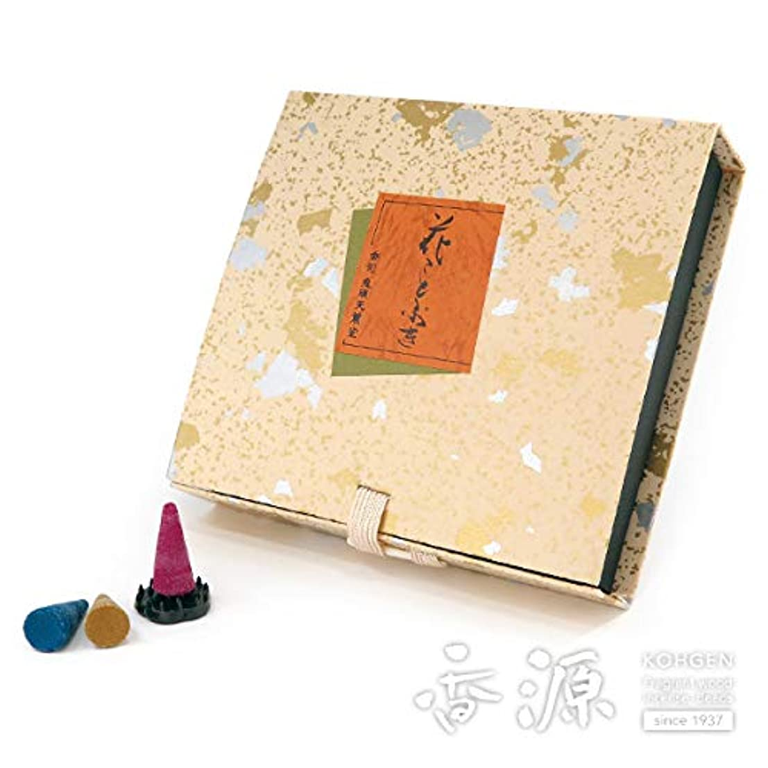 前調整可能コンチネンタル鬼頭天薫堂のお香 花ことぶき コーン型36個入